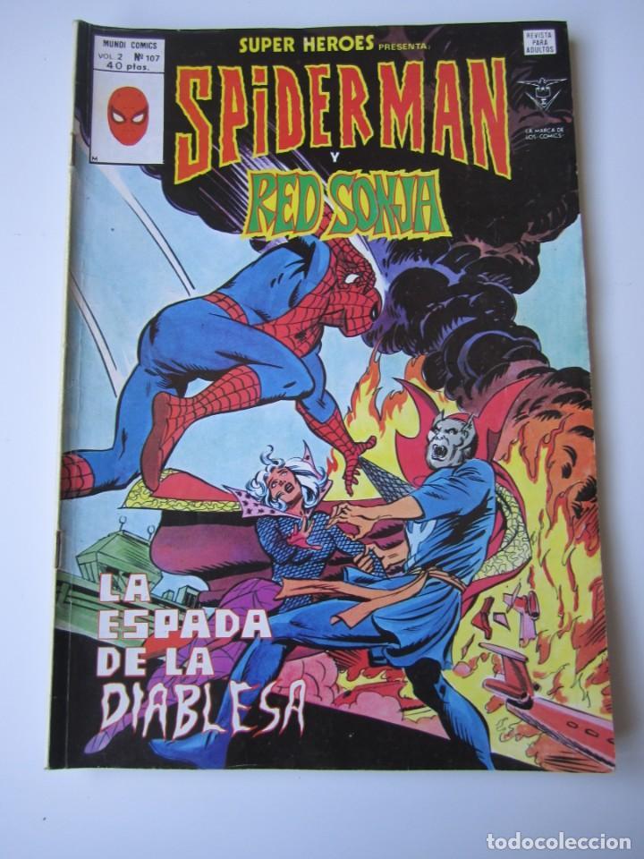 SUPER HEROES (1974, VERTICE) 107 · 1976 · SPIDER-MAN Y RED SONJA. LA ESPADA DE LA DIABLESA (Tebeos y Comics - Vértice - Super Héroes)