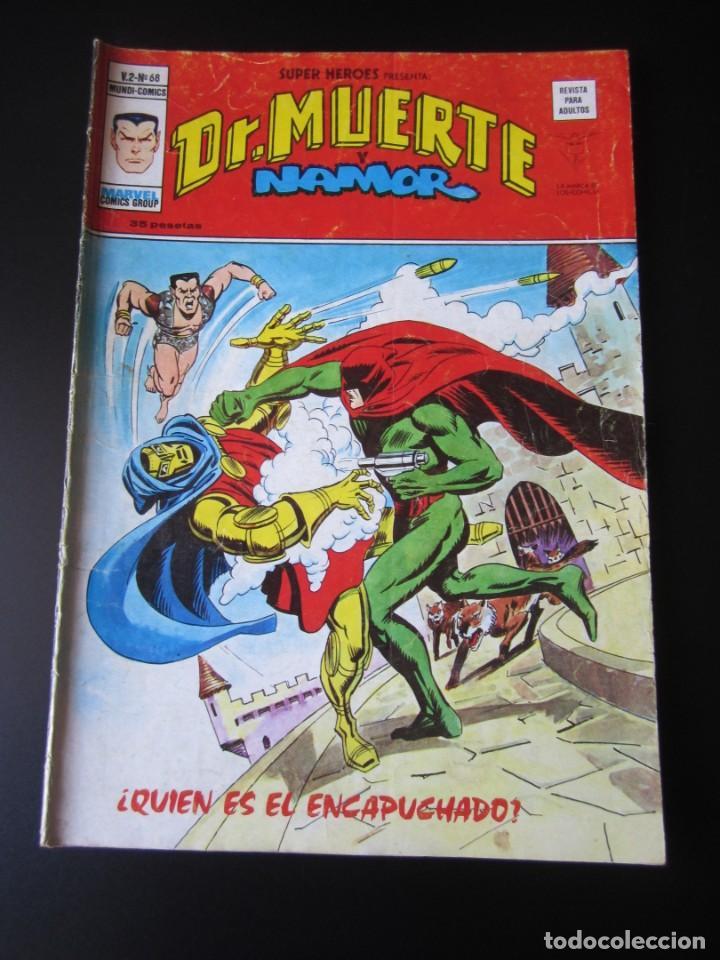 SUPER HEROES (1974, VERTICE) 68 · 1976 · DR. MUERTE Y NAMOR. ¿QUIEN ES EL ENCAPUCHADO? (Tebeos y Comics - Vértice - Super Héroes)
