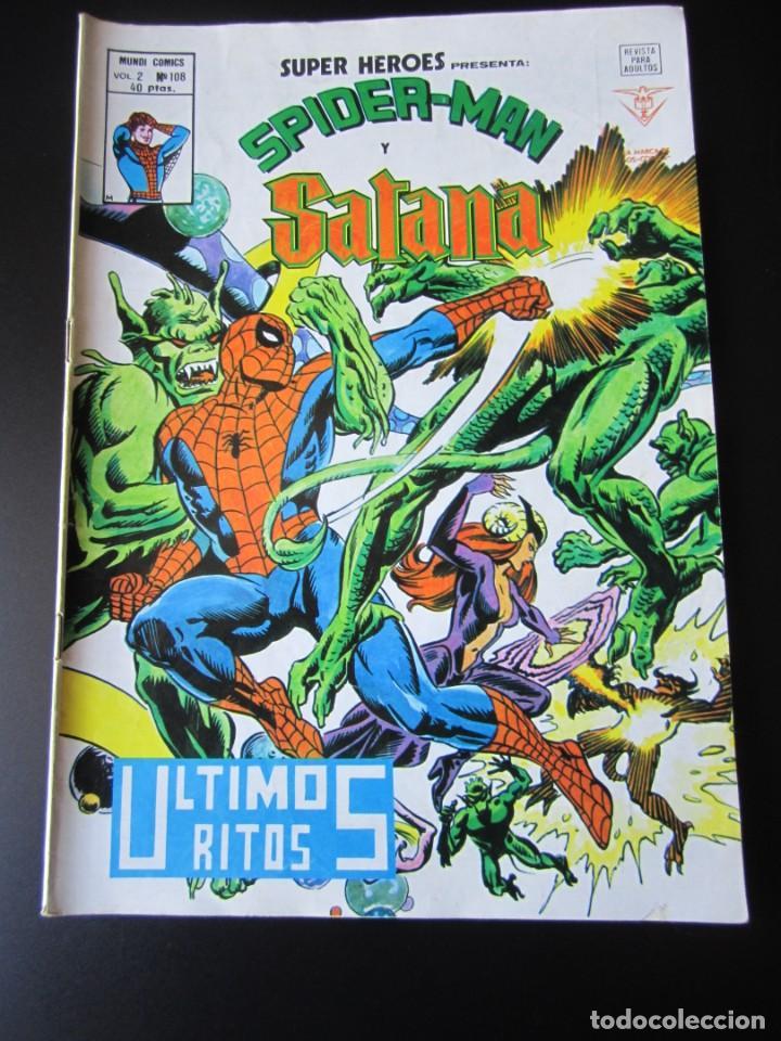 SUPER HEROES (1974, VERTICE) 108 · 1976 · SPIDER-MAN Y SATANA. ULTIMOS RITOS (Tebeos y Comics - Vértice - Super Héroes)