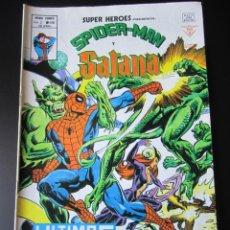 Cómics: SUPER HEROES (1974, VERTICE) 108 · 1976 · SPIDER-MAN Y SATANA. ULTIMOS RITOS. Lote 219225500