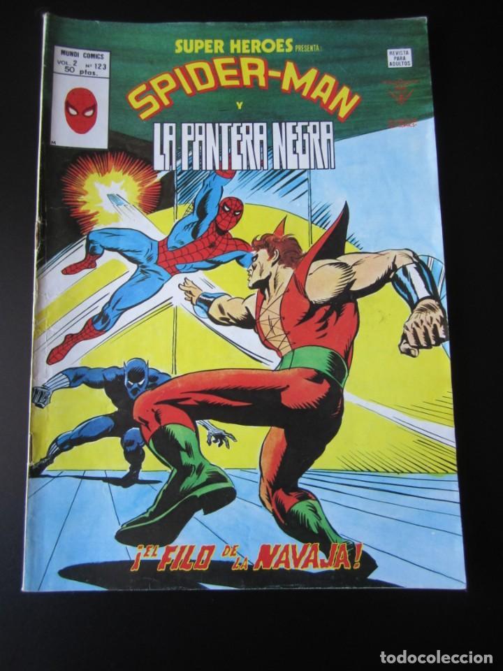 SUPER HEROES (1974, VERTICE) 123 · 1976 · SPIDER-MAN Y LA PANTERA NEGRA. EL FILO DE LA NAVAJA (Tebeos y Comics - Vértice - Super Héroes)