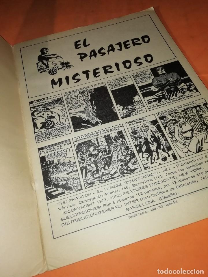 Cómics: EL HOMBRE ENMASCARADO. Nº 2. EL PASAJERO MISTERIOSO. VERTICE 1974 - Foto 5 - 219422418