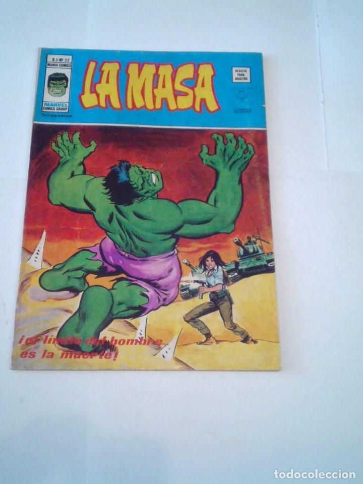 LA MASA - VOLUMEN 3 - NUMERO 22 - VERTICE - CJ 107 - GORBAUD (Tebeos y Comics - Vértice - La Masa)