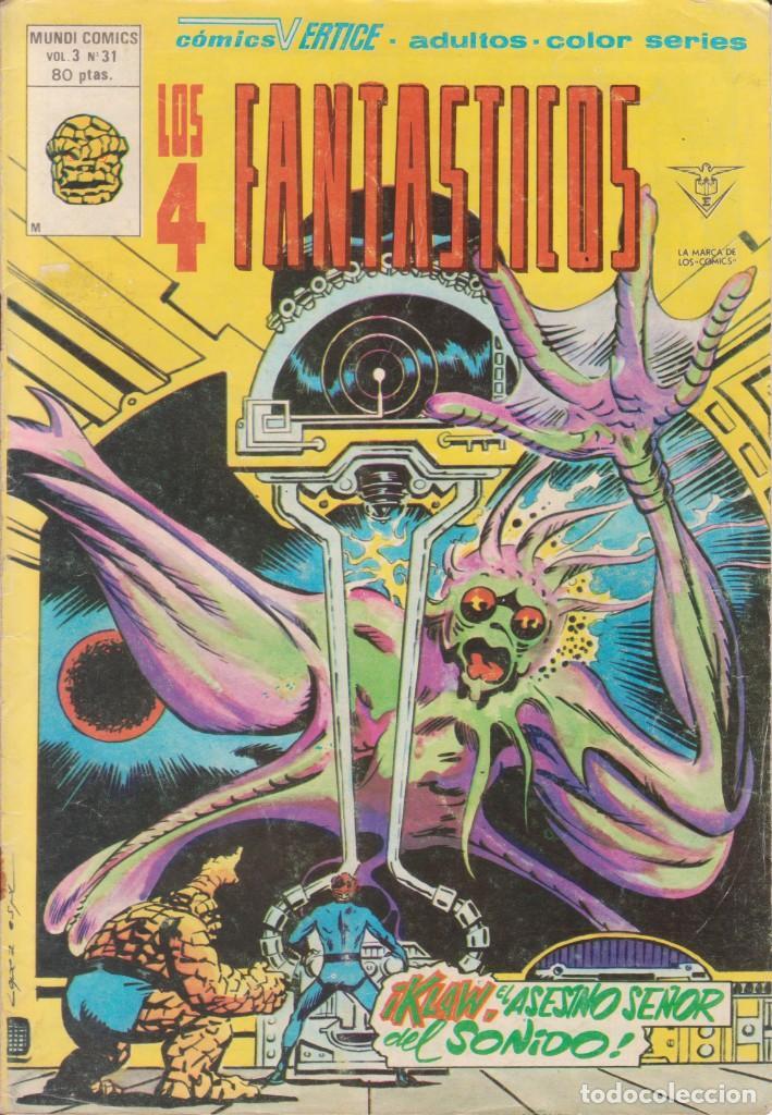 CÓMIC LOS 4 FANTÁSTICOS Nº 31 VOL.3 ED. VÉRTICE / MARVEL COLOR (Tebeos y Comics - Vértice - 4 Fantásticos)