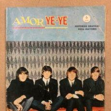Cómics: AMOR YE-YE N° 1 (EDICIONES VÉRTICE 1965). ¿COMO FILMARON LOS BEATLES?. THE BEATLES COMIC.. Lote 219640041
