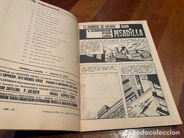 Cómics: EL HOMBRE DE HIERRO Nº 22 LAGRIMAS POR UNA PESADILLA, VERTICE, VOL.1, BUEN ESTADO - FLA - Foto 3 - 219848713