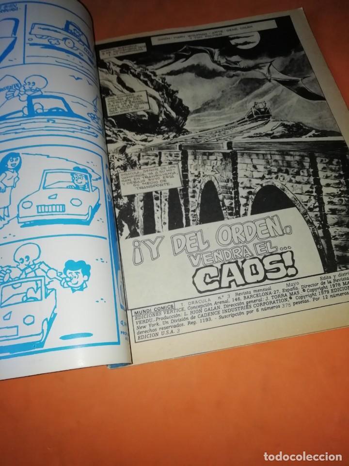 Cómics: LA TUMBA DE DRACULA.VOLUMEN 1. Nº 3. VERTICE. - Foto 4 - 219885218