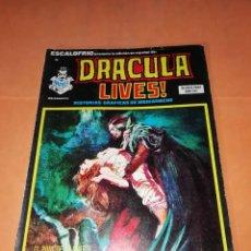 Cómics: ESCALOFRIO Nº 38. DRACULA LIVES Nº 10. VERTICE.. Lote 219889591