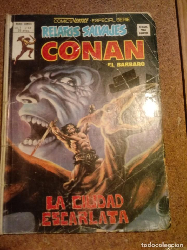 COMIC DE CONAN EL BARBARO EN LA CIUDAD ESCARLATE (Tebeos y Comics - Vértice - Conan)
