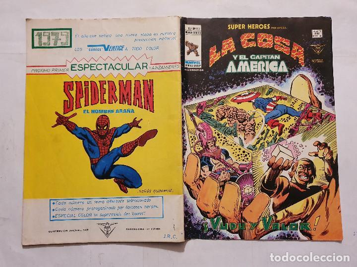 Cómics: SUPER HEROES VOL. 2 # 103 (VERTICE) - LA COSA Y EL CAPITAN AMERICA - 1979 - Foto 2 - 221516997