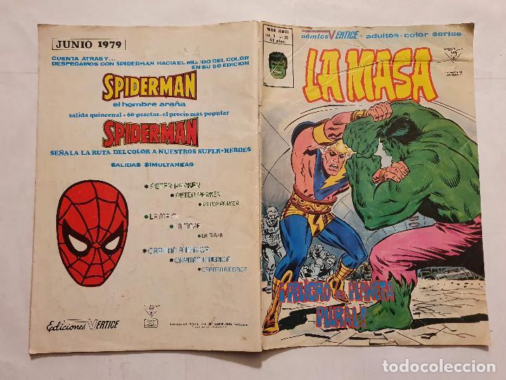 Cómics: LA MASA VOL. 1 # 38 (VERTICE) - 1980 - Foto 2 - 221517976