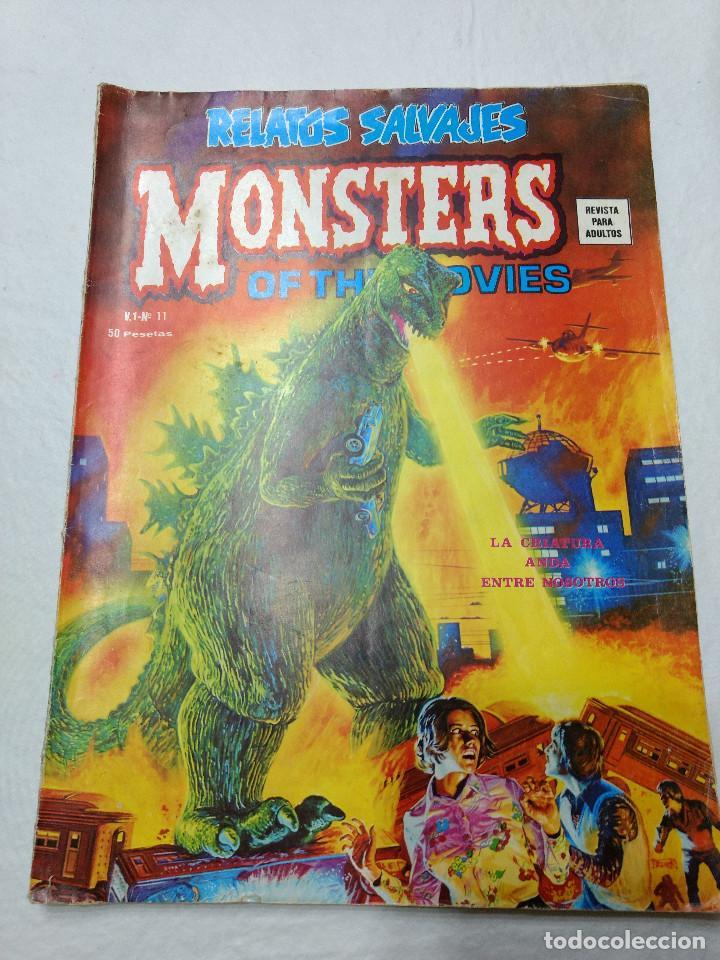 RELATOS SALVAJES NUMERO 11. MONSTERS OF THE MOVIES ORIGINAL VERTICE AÑOS 70 (Tebeos y Comics - Vértice - Relatos Salvajes)