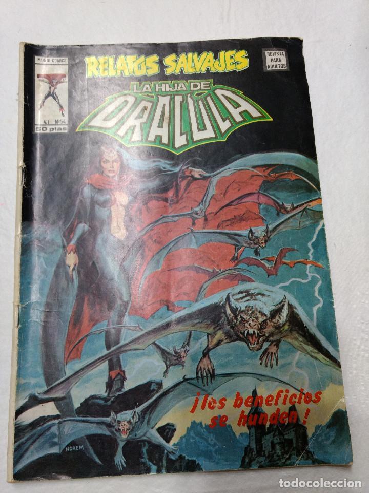 RELATOS SALVAJES NUMERO 54 LA HIJA DE DRACULA ORIGINAL VERTICE AÑOS 70 (Tebeos y Comics - Vértice - Relatos Salvajes)