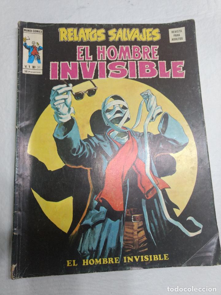 RELATOS SALVAJES Nº 31 EL HOMBRE INVISIBLE ORIGINAL VERTICE AÑOS 70 (Tebeos y Comics - Vértice - Relatos Salvajes)