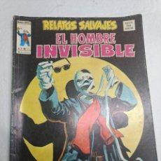 Cómics: RELATOS SALVAJES Nº 31 EL HOMBRE INVISIBLE ORIGINAL VERTICE AÑOS 70. Lote 221611745
