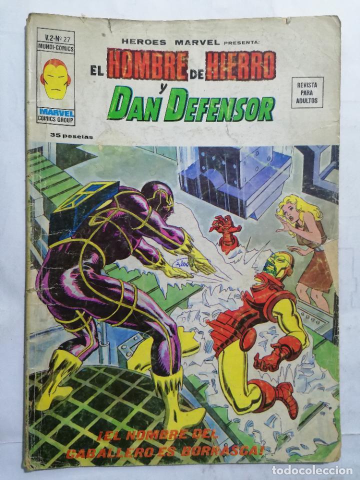 EL HOMBRE DE HIERRO Y DAN DEFENSOR - MUNDI COMICS VOL 2 Nº 27 (Tebeos y Comics - Vértice - Hombre de Hierro)