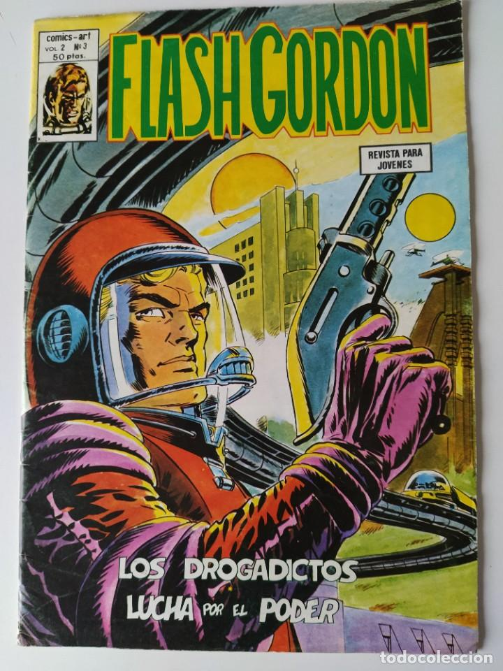 FLASH GORDON, COMIC-ART VOLUMEN 2, 12 NÚMEROS: 2, 9, 11, 13, 15, 16, 17, 19, 22, 23, 25, 26. (Tebeos y Comics - Vértice - Flash Gordon)
