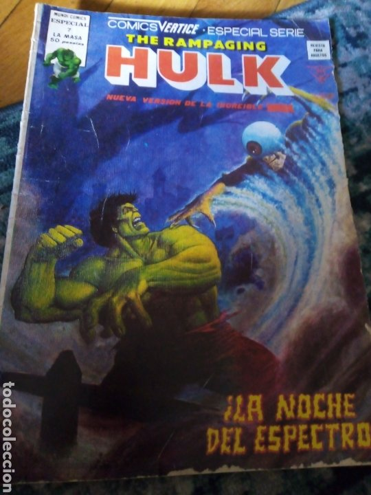 THE RAMPAGING HULK NÚM 7. VÉRTICE (Tebeos y Comics - Vértice - La Masa)