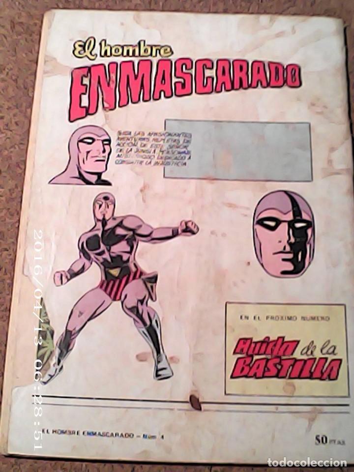 Cómics: COMIC EL HOMBRE ENMASCARADO EN EL FALSO HOMBRE ENMASCARADO DEL AÑO 1980 Nº 4 - Foto 2 - 222054107