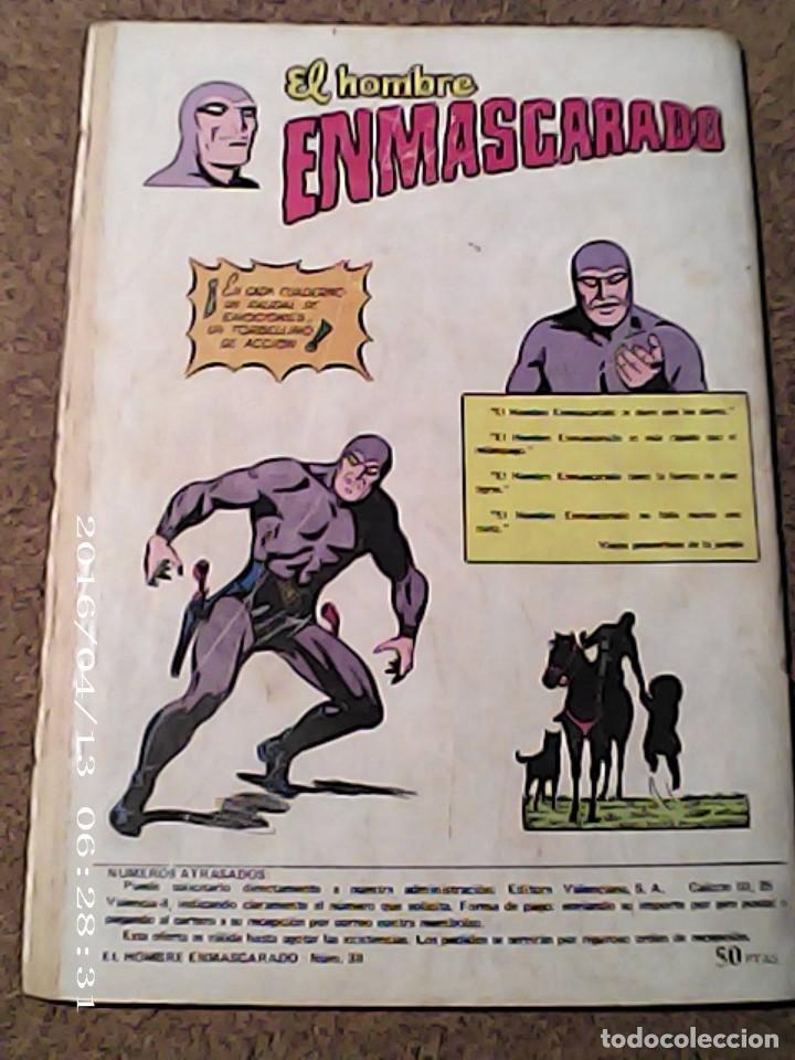 Cómics: COMIC EL HOMBRE ENMASCARADO EN EL COMANDANTE DESCONOCIDO DEL AÑO 1981 Nº 38 - Foto 2 - 222054657