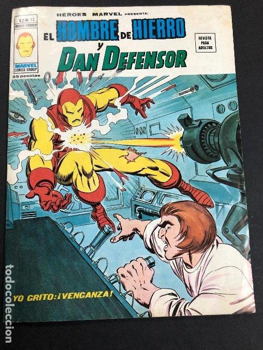 COMIC HEROES MARVEL Nº 13 V2 EL HOMBRE DE HIERRO Y DAN DEFENSOR EDITORIAL VERTICE (Tebeos y Comics - Vértice - V.2)