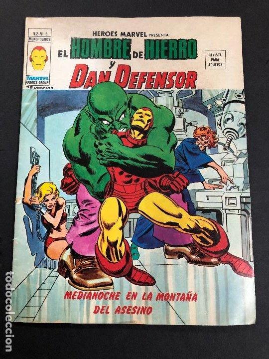 COMIC HEROES MARVEL Nº 16 V2 EL HOMBRE DE HIERRO Y DAN DEFENSOR EDITORIAL VERTICE (Tebeos y Comics - Vértice - V.2)