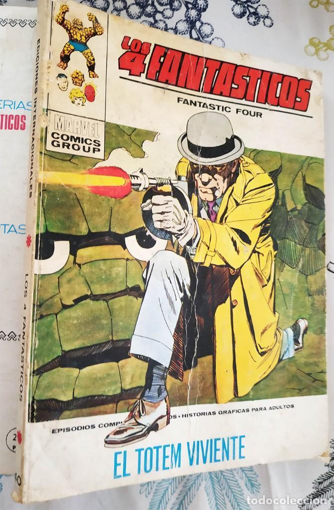 LOS 4 FANTASTICOS N.º 40 EL TOTEM VIVIENTE VERTICE TACO (2) (Tebeos y Comics - Vértice - 4 Fantásticos)