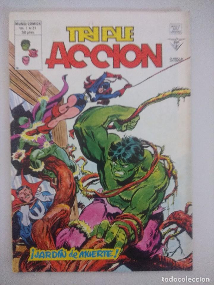TRIPLE ACCION V1-Nº21 VERTICE. (Tebeos y Comics - Vértice - Otros)