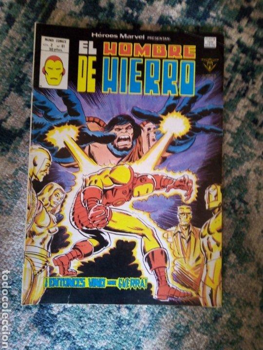 HÉROES MARVEL VOL 2 NÚM 61. EL HOMBRE DE HIERRO. VÉRTICE (Tebeos y Comics - Vértice - Hombre de Hierro)