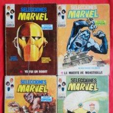 Cómics: SELECCIONES MARVEL , Nº 3 , 7, 13 , 19 - (AÑOS 1970 ~1971) - MARVEL~ED. VERTICE - PJRB. Lote 223505571