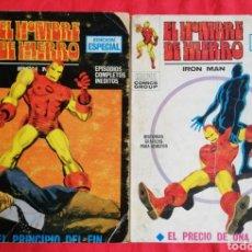 Cómics: EL HOMBRE DE HIERRO, Nº 7 Y 8 ( VER DESCRIPCIÓN) - MARVEL~ED. VERTICE - PJRB. Lote 223526457