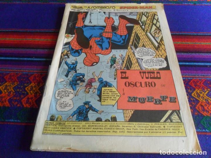 Cómics: VÉRTICE VOL. 3 SPIDERMAN Nº 18. 1976. 35 PTS. REGALO Nº 63. - Foto 2 - 25262999