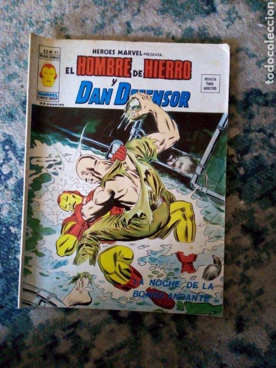 HÉROES MARVEL VOL 2 NÚM 25. EL HOMBRE DE HIERRO Y DAN DEFENSOR. VÉRTICE (Tebeos y Comics - Vértice - Hombre de Hierro)