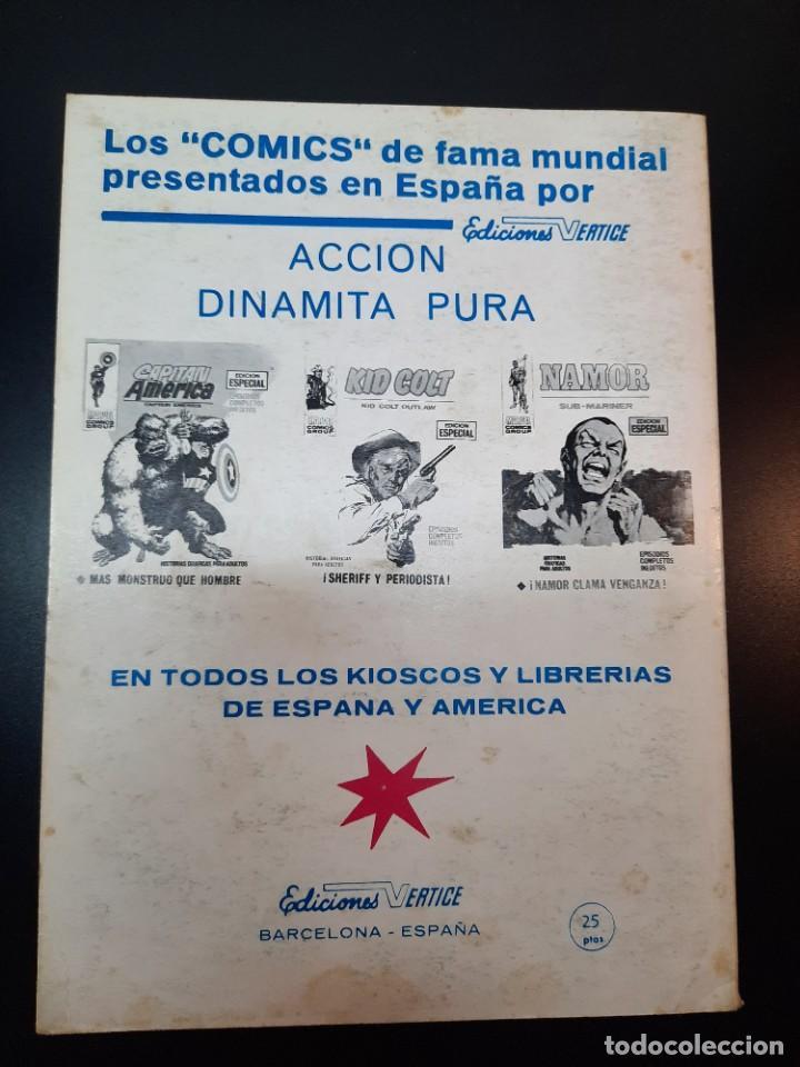 Cómics: IRON MAN (1969, VERTICE) -EL HOMBRE DE HIERRO- 16 · X-1970 · VENGANZA - Foto 2 - 224561227