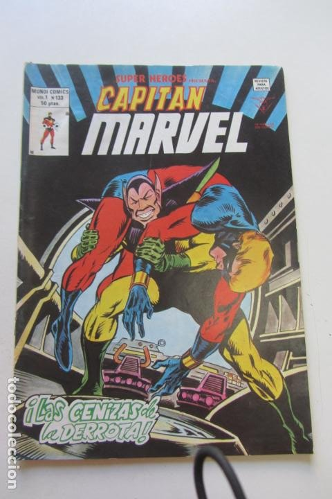 SUPER HEROES.VOL 1. Nº 133. CAPITAN MARVEL BUEN ESTADO MUNDICOMICS. VERTICE ARX15 (Tebeos y Comics - Vértice - Thor)