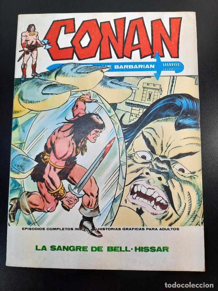CONAN (1972, VERTICE) 14 · II-1974 · LA SANGRE DE BEL-HISSAR *** EXCELENTE*** (Tebeos y Comics - Vértice - Conan)