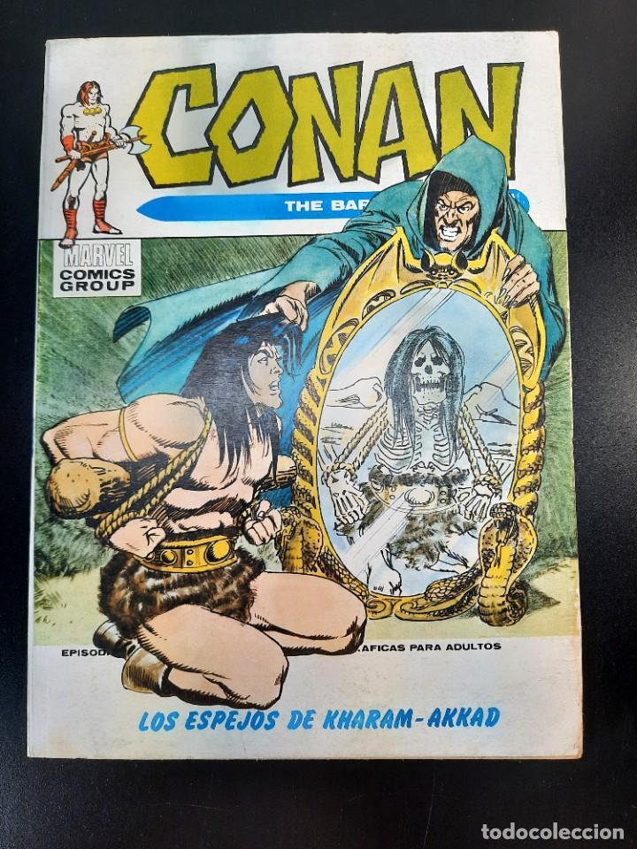 CONAN (1972, VERTICE) 13 · I-1974 · LOS ESPEJOS DE KHARAM-AKKAD (Tebeos y Comics - Vértice - Conan)
