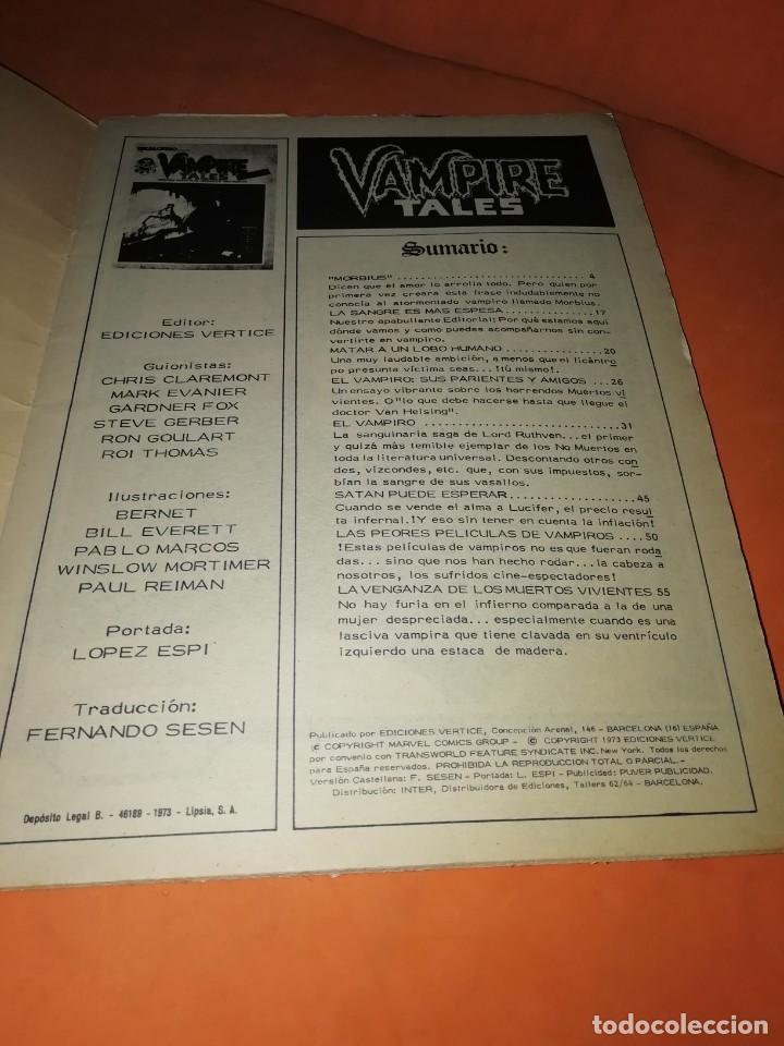 Cómics: ESCALOFRIO. Nº 1 VAMPIRE TALES Nº1 . EDICIONES VERTICE 1973 - Foto 5 - 225010245