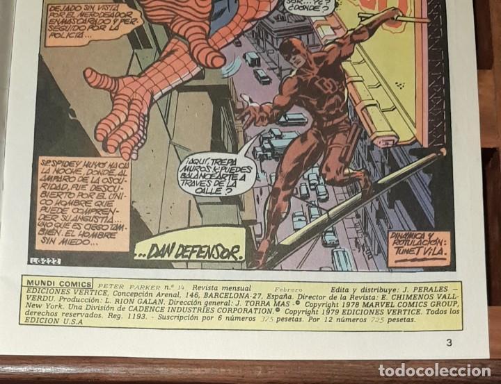 Cómics: SPIDERMAN, VOL 1, Nº 14, COMICS VERTICE, COLOR SERIES. 1979 - Foto 3 - 225544665