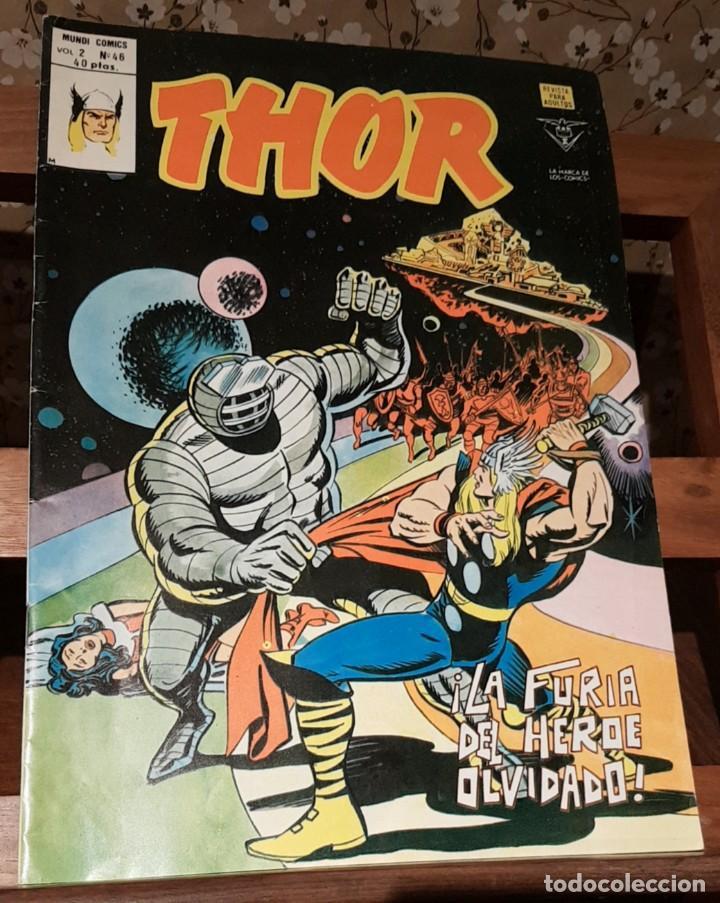 THOR VOL. 2 Nº 46 MUNDI COMICS VERTICE MARVEL LA FURIA DEL HEROE DE NAVIDAD. 1979 (Tebeos y Comics - Vértice - Thor)