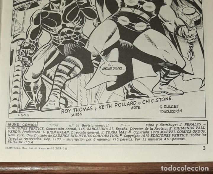 Cómics: THOR VOL. 2 Nº 46 MUNDI COMICS VERTICE MARVEL LA FURIA DEL HEROE DE NAVIDAD. 1979 - Foto 3 - 225549648