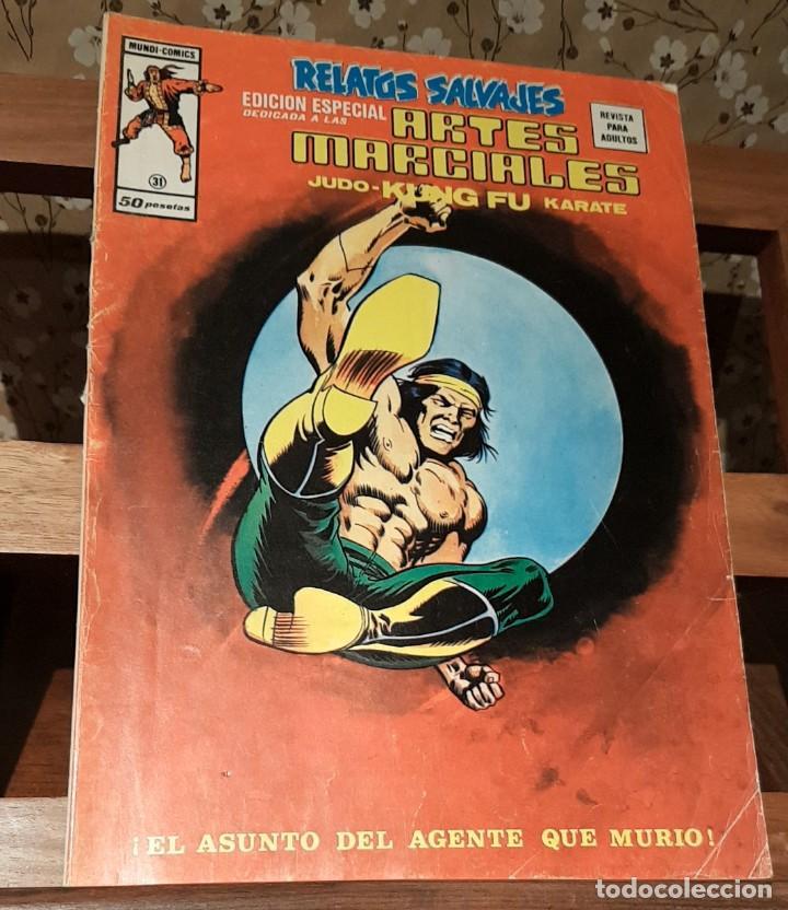 COMIC RELATOS SALVAJES. ED. ESPECIAL ARTES MARCIALES. MUNDI COMICS. VERTICE. Nº 31. 1974 (Tebeos y Comics - Vértice - Relatos Salvajes)
