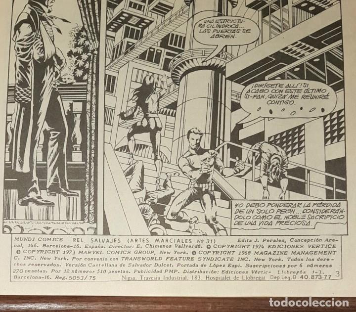 Cómics: COMIC RELATOS SALVAJES. ED. ESPECIAL ARTES MARCIALES. MUNDI COMICS. VERTICE. Nº 31. 1974 - Foto 3 - 225550330