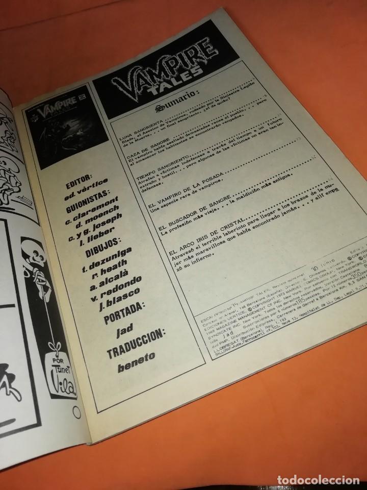 Cómics: ESCALOFRIO Nº 35. VAMPIRE TALES Nº 9 . EDICIONES VERTICE. - Foto 7 - 225987432