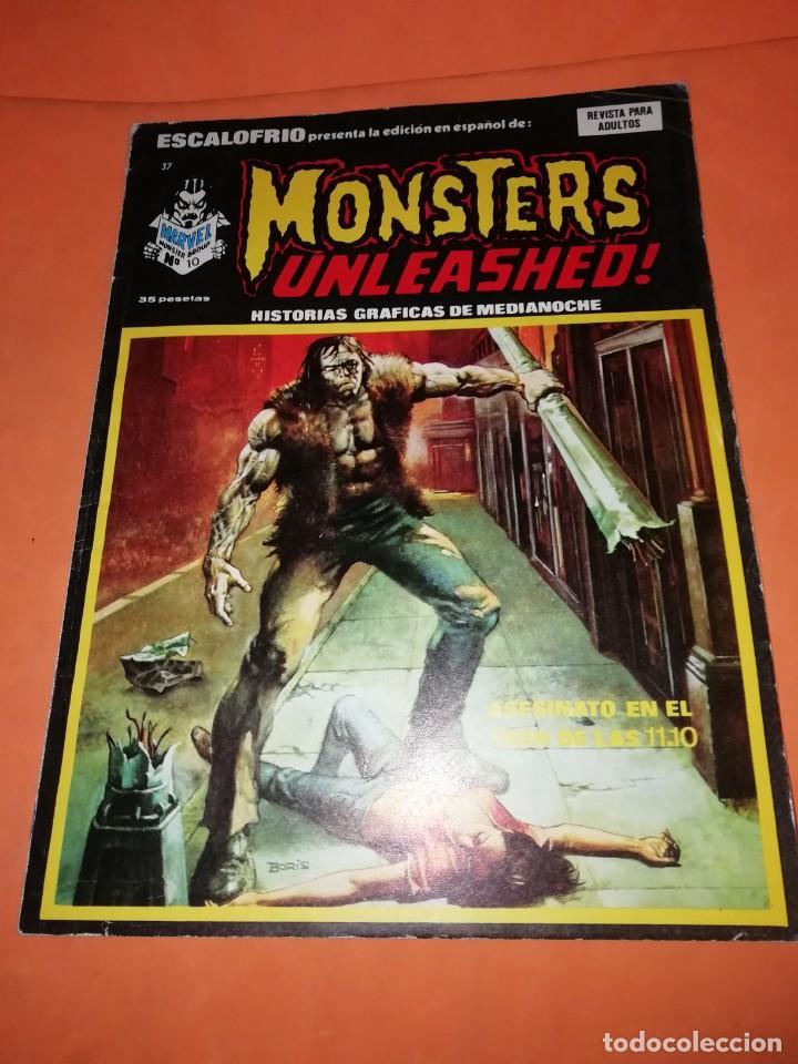 ESCALOFRIO. Nº 37. MONSTERS UNLEASHED. Nº 10 . EDICIONES VERTICE. (Tebeos y Comics - Vértice - Otros)