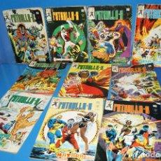Cómics: LOTE 10 NUMEROS PATRULLA X-VERTICE 1979 -NUMEROS 26 AL 35-MUY BUEN ESTADO. Lote 226152995