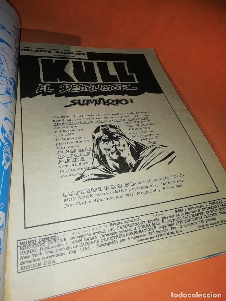Cómics: RELATOS SALVAJES. KULL EL CONQUISTADOR. JINETES DE MAS ALLA. VOL 1 Nº 71. 1978. VERTICE - Foto 5 - 226302900