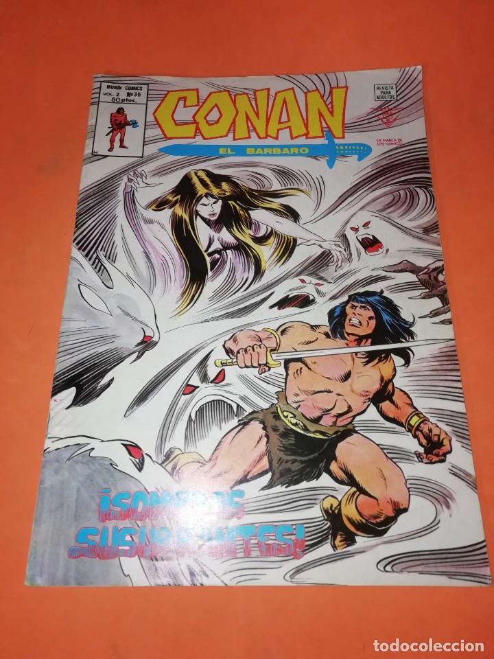 CONAN EL BARBARO . VOL 2. Nº 36. SOMBRAS SUSURRANTES. EDICIONES VERTICE. (Tebeos y Comics - Vértice - Otros)