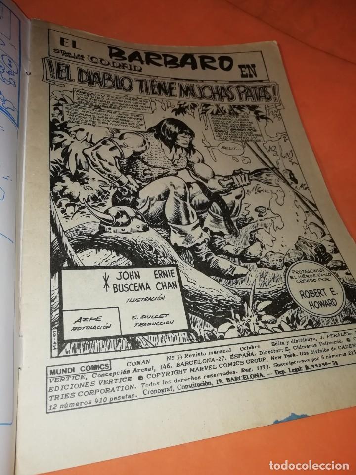 Cómics: CONAN EL BARBARO . VOL 2. Nº 34. el diablo tiene muchas patas. EDICIONES VERTICE. - Foto 2 - 243261750