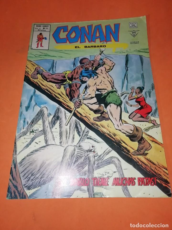 CONAN EL BARBARO . VOL 2. Nº 34. EL DIABLO TIENE MUCHAS PATAS. EDICIONES VERTICE. (Tebeos y Comics - Vértice - Conan)